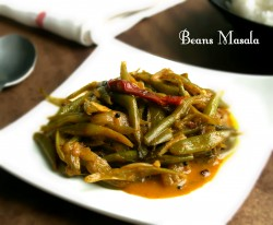 Simple Masala green beans curry