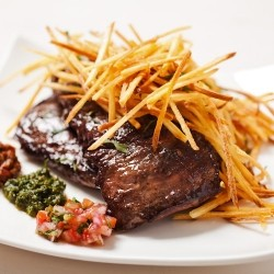 Skirt Steak with Chimichurri and Yuca Fries