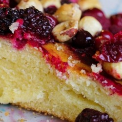 Sour Cream Cake with Berries and Hazelnuts Recipe