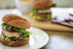 Southwest Turkey Burgers with Chipotle Yogurt Sauce recipe