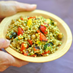 Spiced Israeli Couscous with Grilled Vegetables