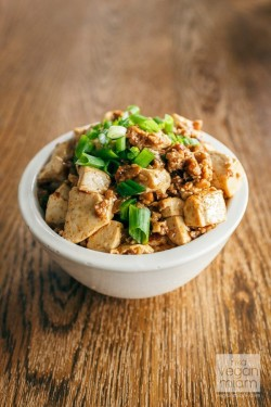 Spicy Mapo Tofu with Minced Seitan Recipe