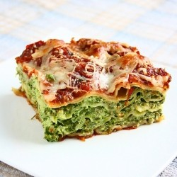 Spinach Ricotta Lasagna Recipe