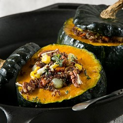 Stuffed Kabocha with Quinoa Recipe