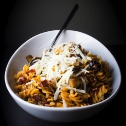 Sun Dried Tomato Artichoke Pasta with Olives Recipe