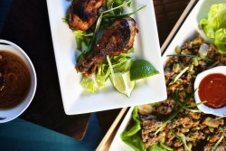 Thai Chicken Wings and Drumsticks and Asian Lettuce Cups