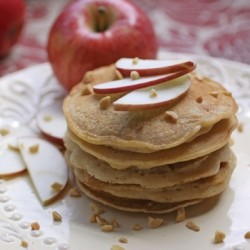 Apple-Almond Butter Pancakes Vegan Recipe