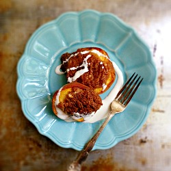 Baked Peaches with Almond Crust Recipe