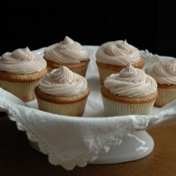 Blood Orange Cupcakes with Faux Meringue Buttercream