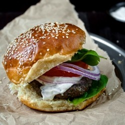 Brioche Burger Buns for Lamb Burger with Sweet Potato Fries Recipe