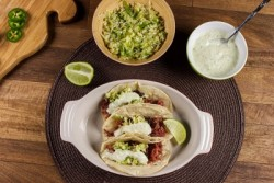 Corned Beef Tacos with Jalapeno-Cabbage Slaw