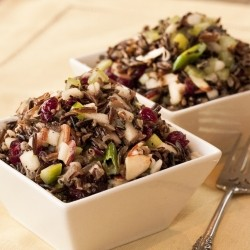 Crunchy Fruit and Wild Rice Salad