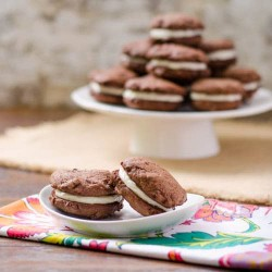 Double Chocolate Cookies with Brown Butter Icing Recipe