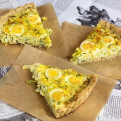 Green Vegetable Quail Egg Quiche Recipe