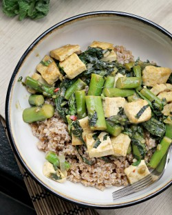 Green-Packed Stir Fry with Fresh Herbs Recipe