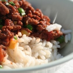 Mince Recipe on Rice