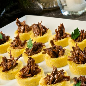 Polenta Cups with Braised Beef