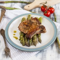 Pork Chops with Asparagus Recipe