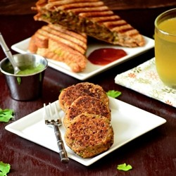 Red Bean and Vegetable Cutlet Recipe