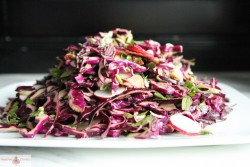 Red Cabbage Bacon and Avocado Salad