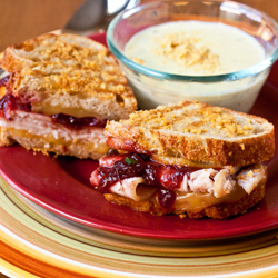 Southwest Thanksgiving Panini and Chowder
