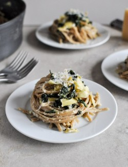 Spinach Artichoke Linguine Recipe