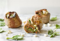 Spinach Feta Steak Pinwheels