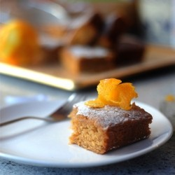 Sticky Gingerbread and Orange Cake
