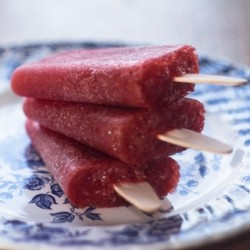 Strawberry and Peach Popsicles Recipe