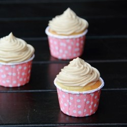 Strawberry Thyme olive oil cupcakes