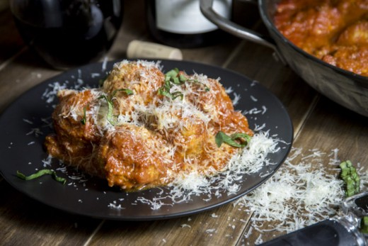 Veal and Ricotta Meatballs in Tomato Sauce