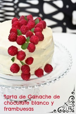 White Chocolate Ganache Raspberries Cake Recipe