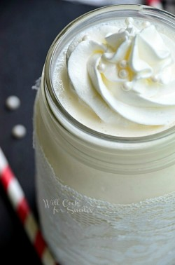 White Wedding Cake Milkshake Recipe