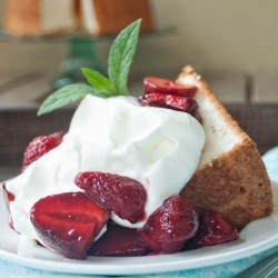 Angel Food Cake with Summer Berries Recipe