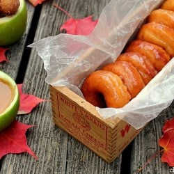 Apple Cider Glazed Raised Donuts