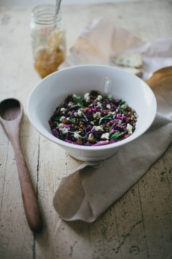 Apple Cider Vinegar Honey Braised Cabbage Lentil Salad Recipe