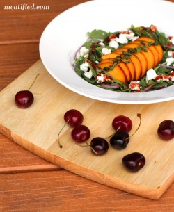 Arugula Peach and Goat Cheese Salad Recipe