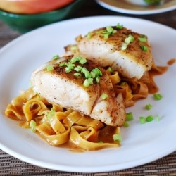 Asian Fish and Peanut Sauce Noodles
