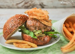 Beer battered Onion Rings Burgers