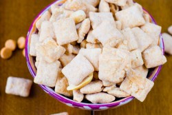 Butterscotch Peanut Butter Puppy Chow Snack Mix Recipe