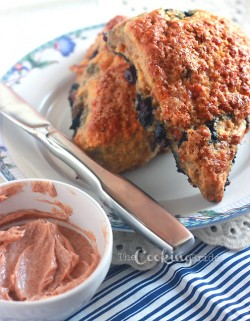 Cheddar Bacon Blueberry Scones