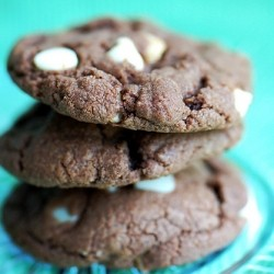 Chocolate White Chocolate macadamia Cookies
