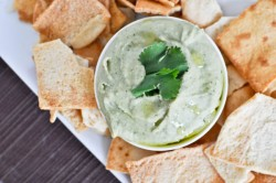 Cilantro Lime Wheat Bean Hummus