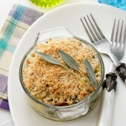 Courgette Chicken Crumble
