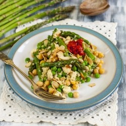 Couscous Salad with Tofu and Asparagus Recipe
