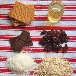 Dried Fruit Nut Dark Chocolate Granola Bars Recipe