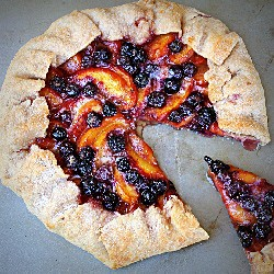 Fresh Nectarine and Blueberry Galette