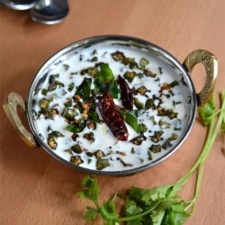 Fried Okra in Yogurt Recipe