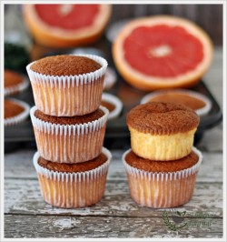 Grapefruit Sponge Cupcakes Recipe