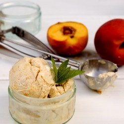 Green Tea Peach Ice Cream Recipe